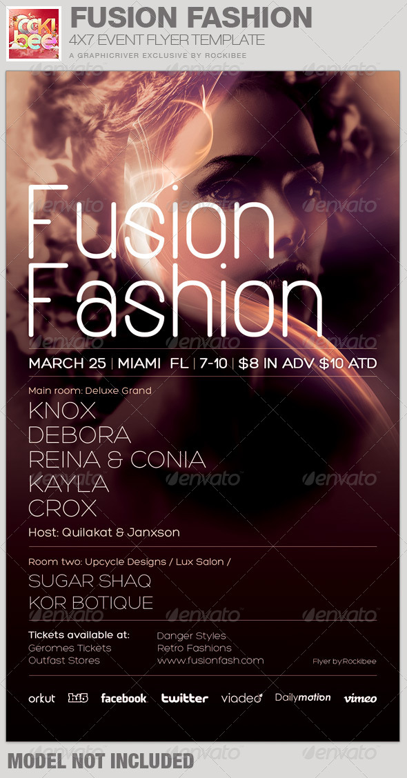 GraphicRiver Fusion Fashion Event Flyer Template 6727736