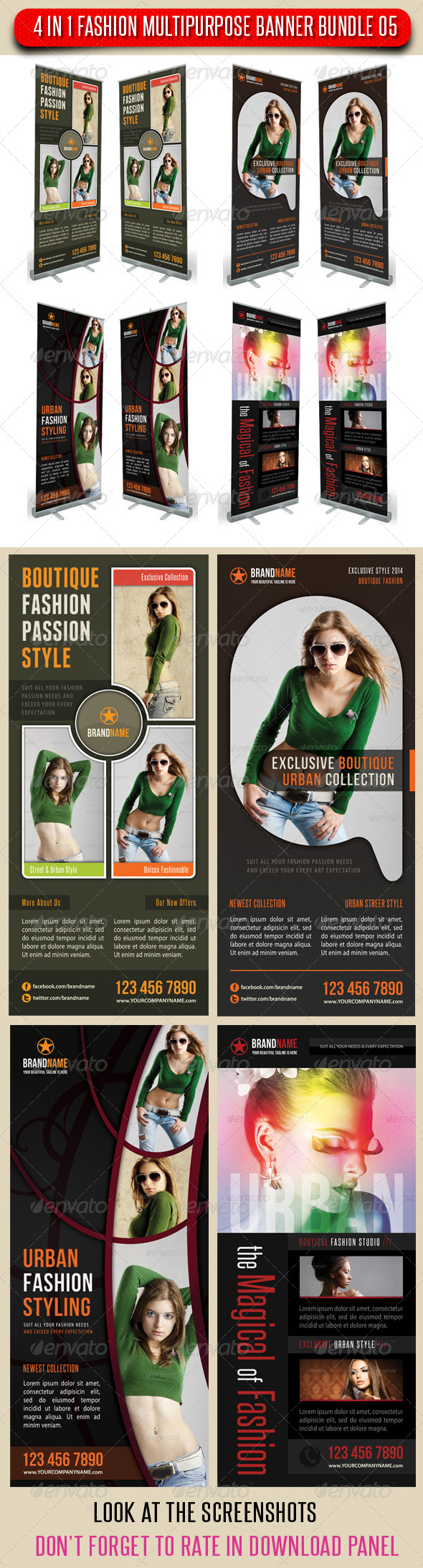 GraphicRiver 4 in 1 Fashion Multipurpose Banner Bundle 05 6727820