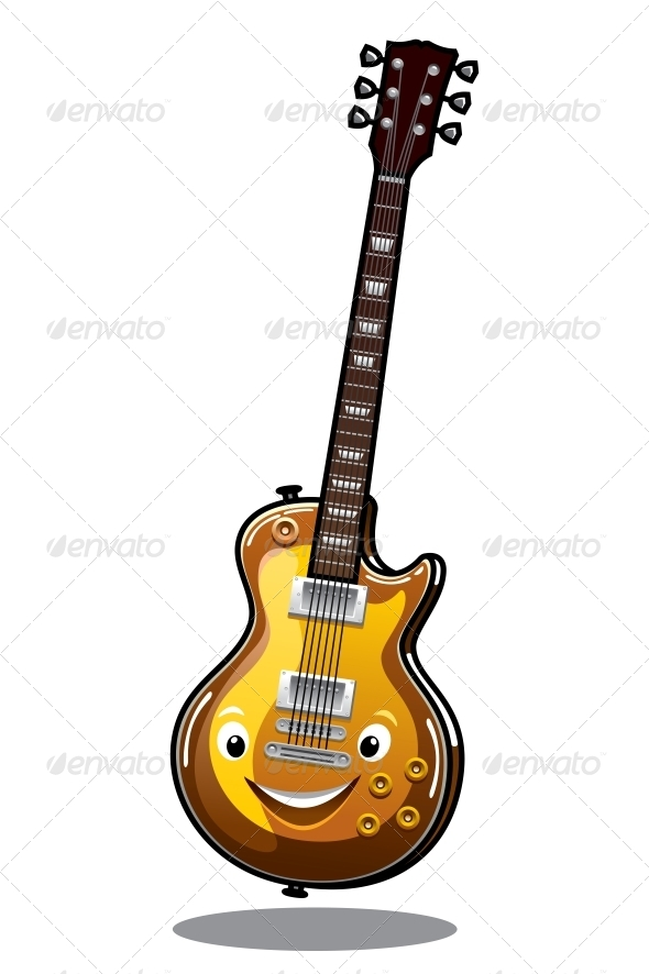 GraphicRiver Cartoon Electric Guitar 6728159