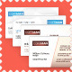 4 x Clean Business Cards - GraphicRiver Item for Sale