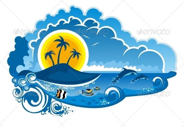 GraphicRiver Tropical Island Paradise 6728165