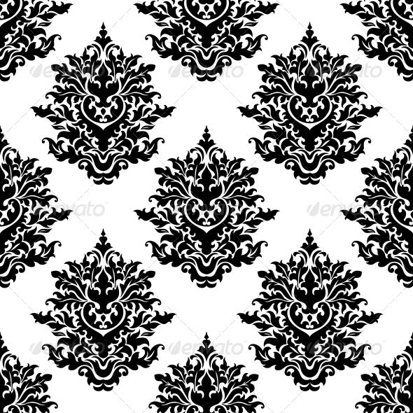 GraphicRiver Ornate Seamless Pattern with Foliate Motifs 6728399