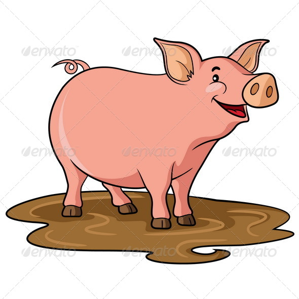 GraphicRiver Pig Cartoon 6728512