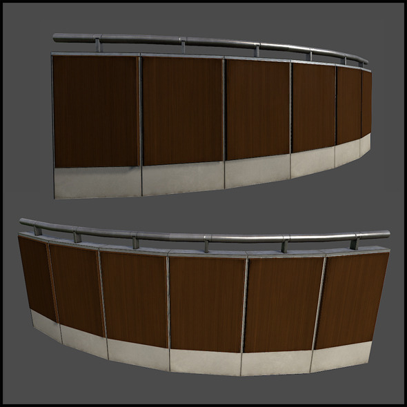 Curved Railing - 3DOcean Item for Sale