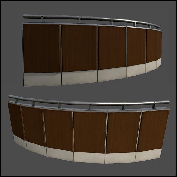 3DOcean Curved Railing 6728587