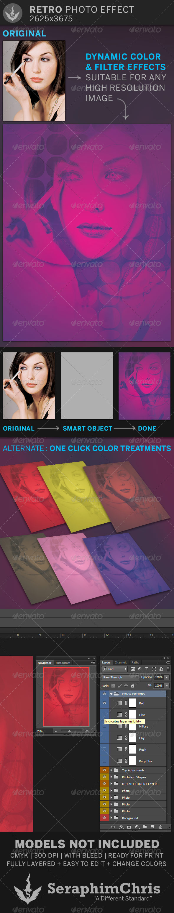 Retro Photo Effect Template - Photo Templates Graphics