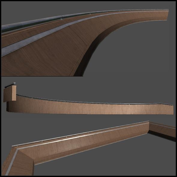 3DOcean Wooden Railing Set 6728648