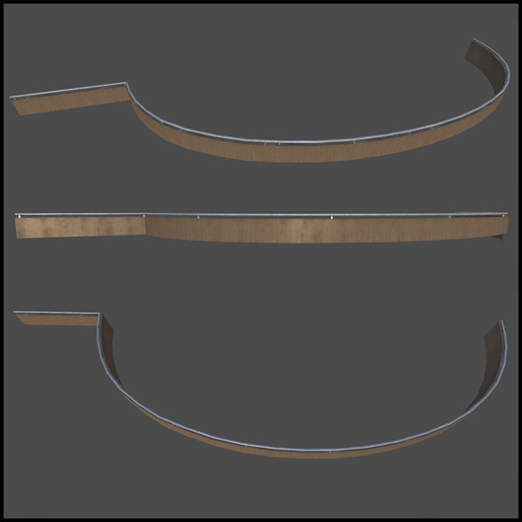 Trim Wooden Railing - 3DOcean Item for Sale