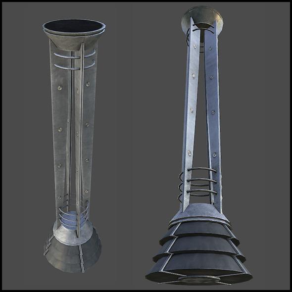 Modern Metal Statue - 3DOcean Item for Sale