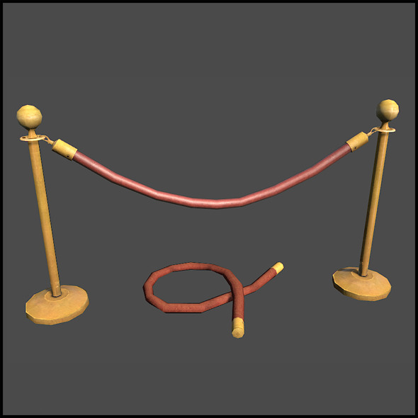 Railing Rope - 3DOcean Item for Sale