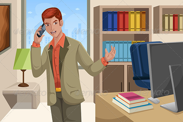 GraphicRiver Businessman Talking on the Phone 6728707