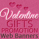 Valentine's Day Gifts Promotion Web Banners - GraphicRiver Item for Sale