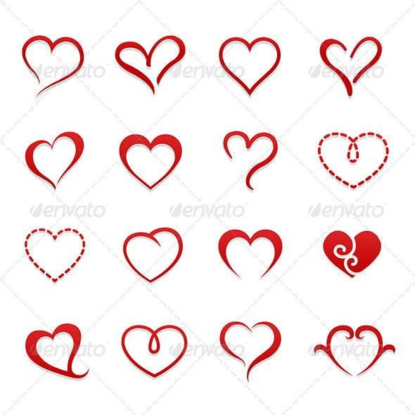 GraphicRiver Heart Valentine Symbol Icon Set 6729099