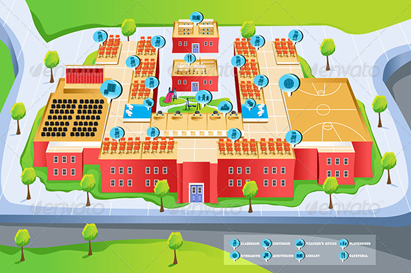 GraphicRiver Map of School 6729159