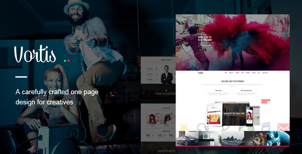 Vortis - One Page PSD Template