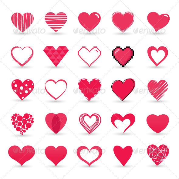 GraphicRiver Heart Valentine Icon Set 6729163
