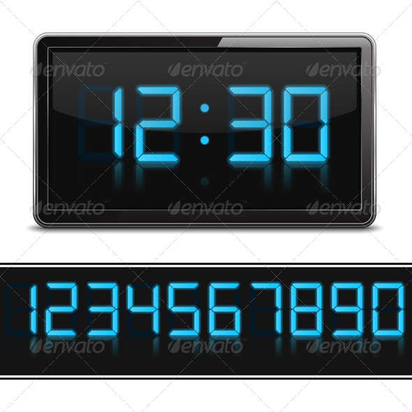 GraphicRiver Digital Clock 6729207