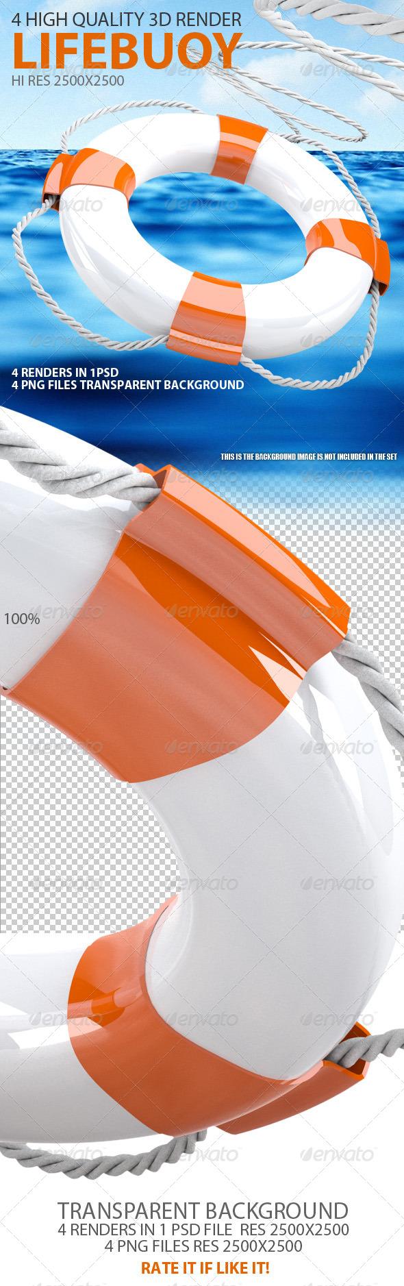 GraphicRiver Lifebuoy 3D 6719246