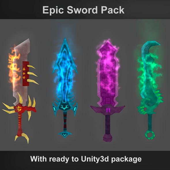 3DOcean Epic Swords 6715993