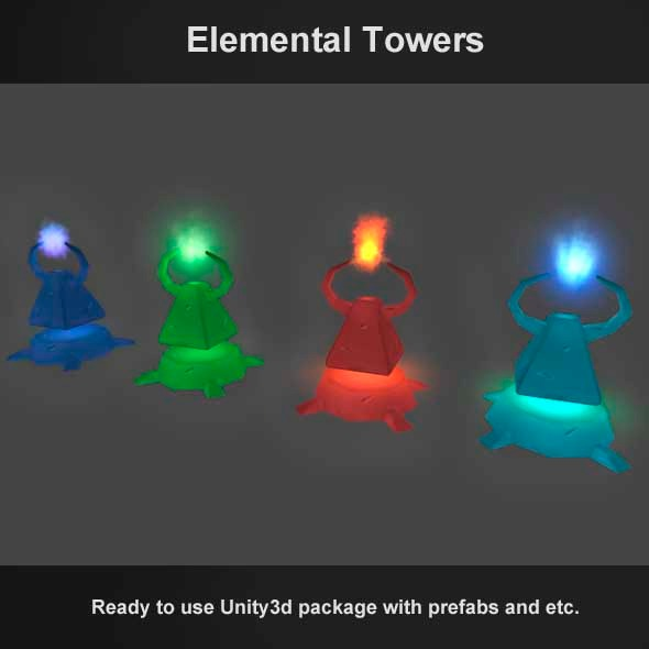 Tower Defense - Elemental Towers - 3DOcean Item for Sale