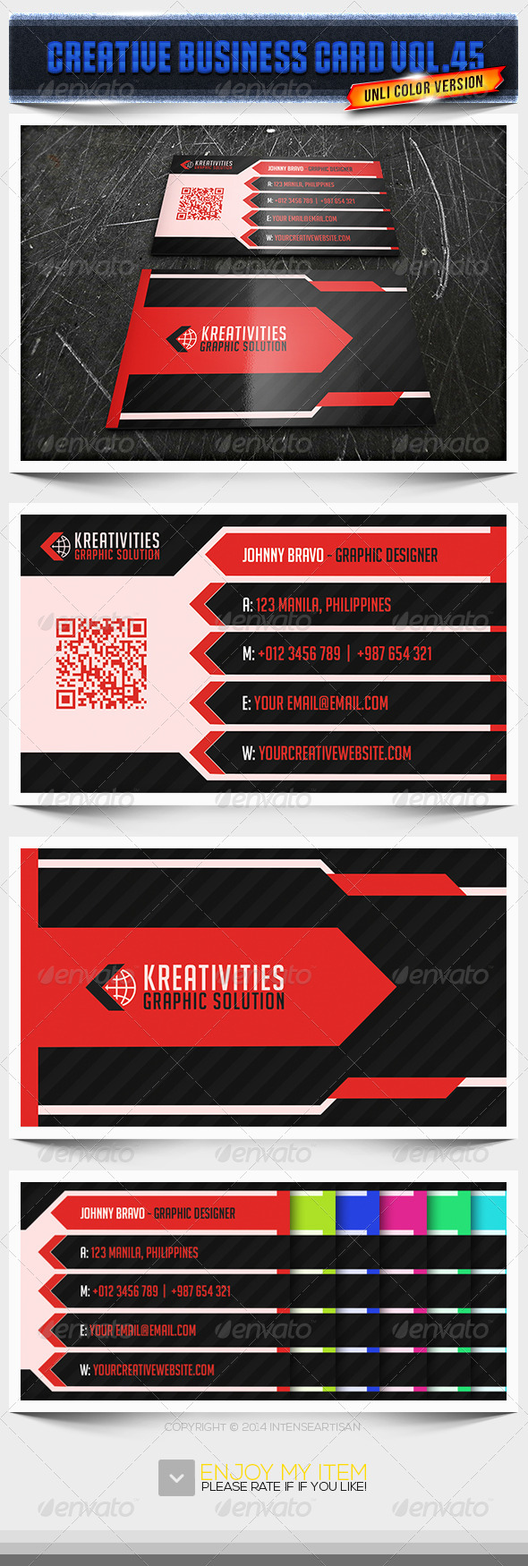 GraphicRiver IntenseArtisan Business Card Vol.45 6729915