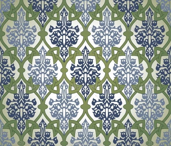 GraphicRiver Seamless Pattern in Mosaic Ethnic Style 6729920