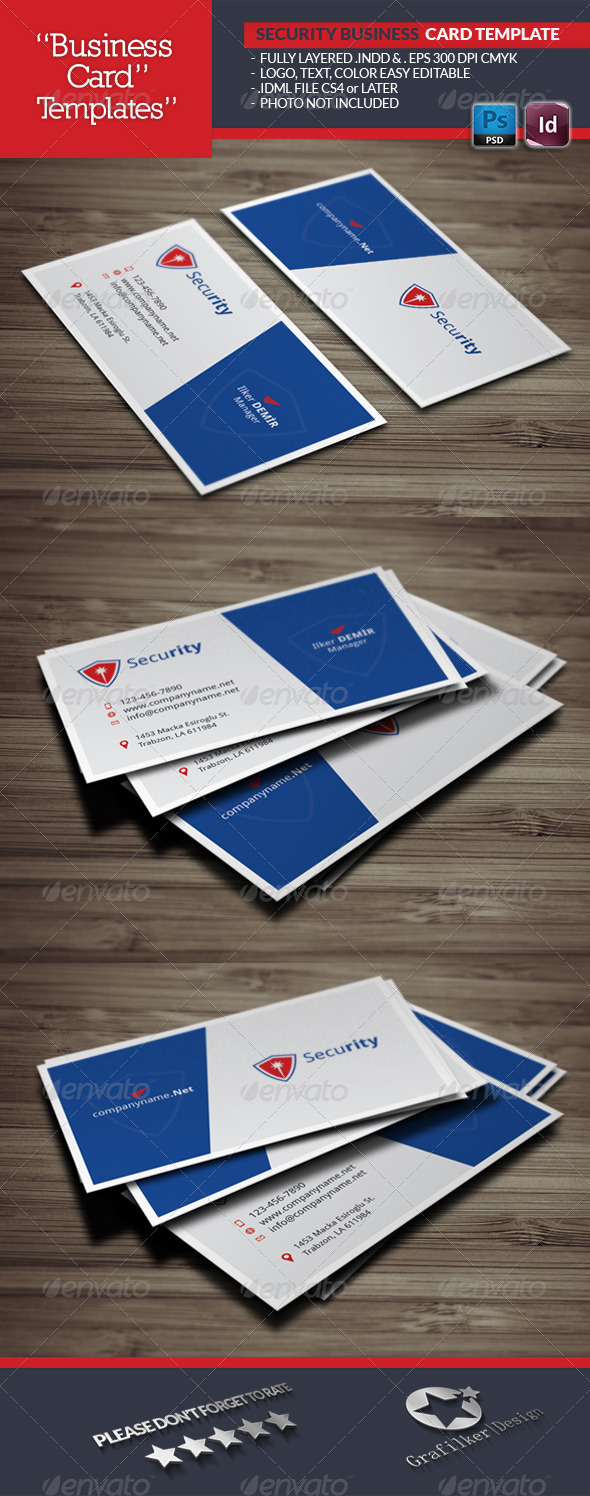 GraphicRiver Security Business Card Template 6729940