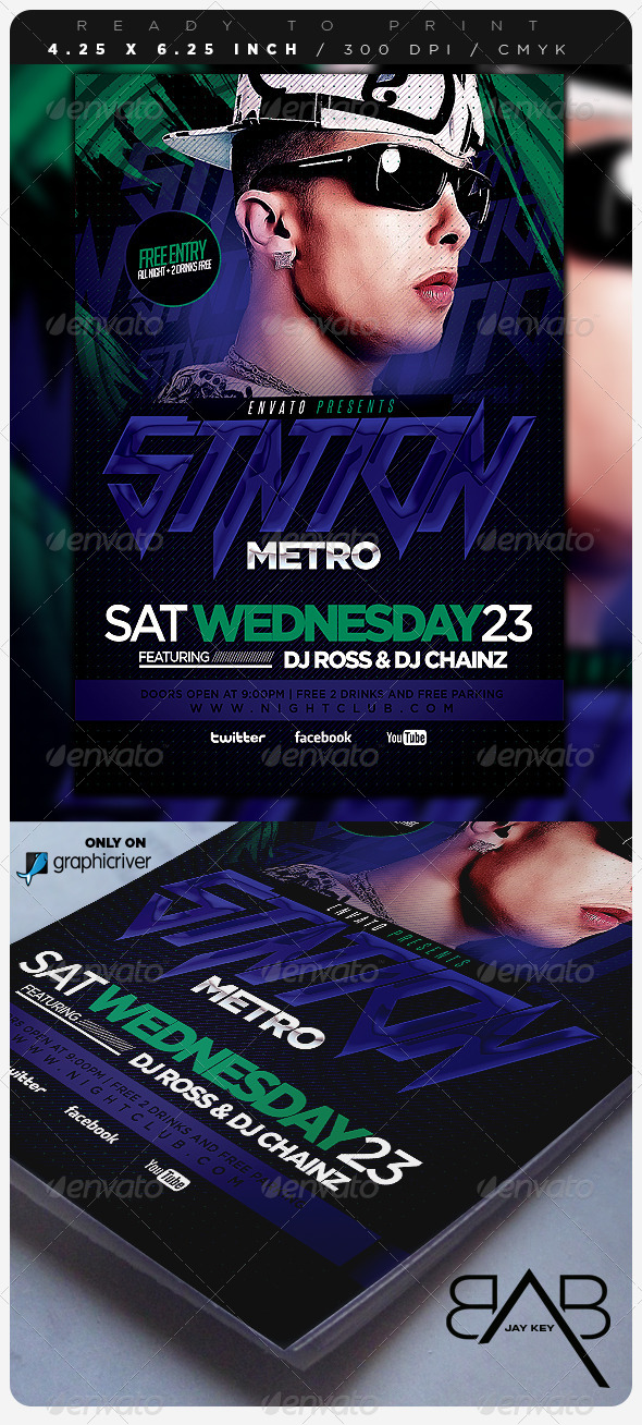 GraphicRiver Electro Concert Music Flyer 6729983