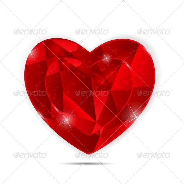 GraphicRiver Happy Valentines Day Card with Heart 6730027