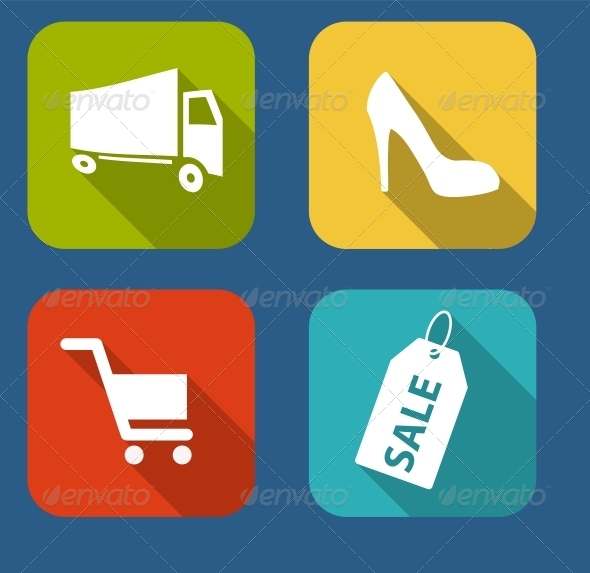 GraphicRiver Modern Flat Icon Set for Web and Mobile Application 6730222