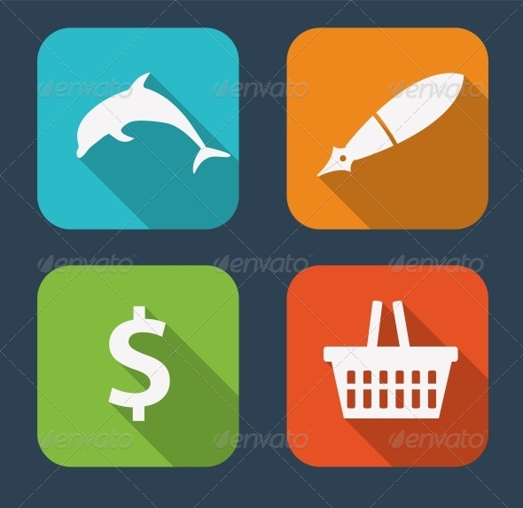 GraphicRiver Modern Flat Icon Set for Web and Mobile Application 6730234