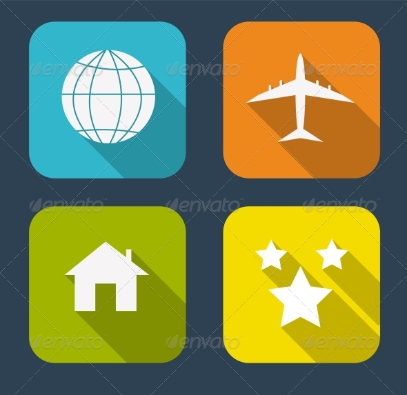 GraphicRiver Modern Flat Icon Set for Web and Mobile Application 6730235
