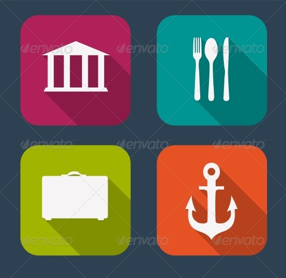 GraphicRiver Modern Flat Icon Set for Web and Mobile Application 6730236