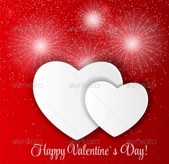 GraphicRiver Happy Valentines Day Card with Hearts 6730253