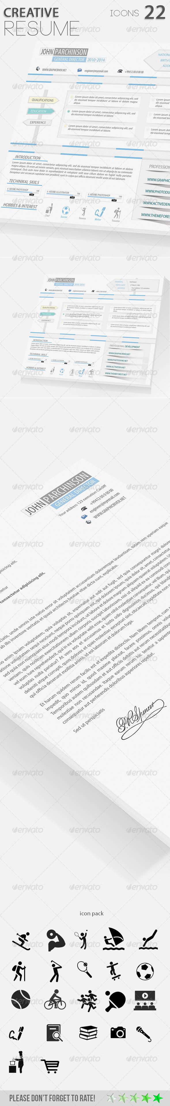 GraphicRiver Creative Resume 01 6730266
