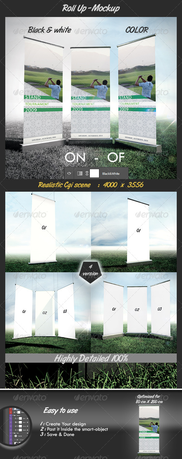 GraphicRiver RollUp Banner Mockup N1 6705646