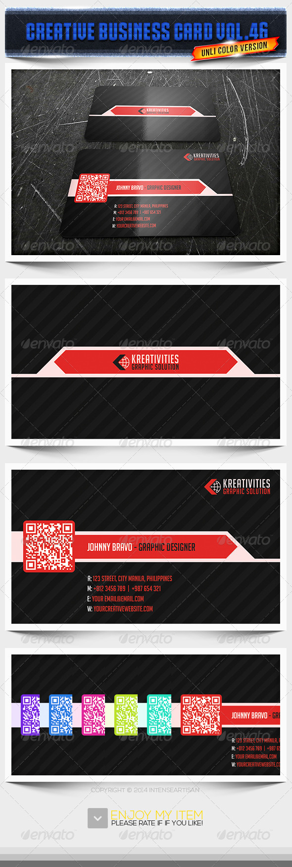 GraphicRiver IntenseArtisan Business Card Vol.46 6730580