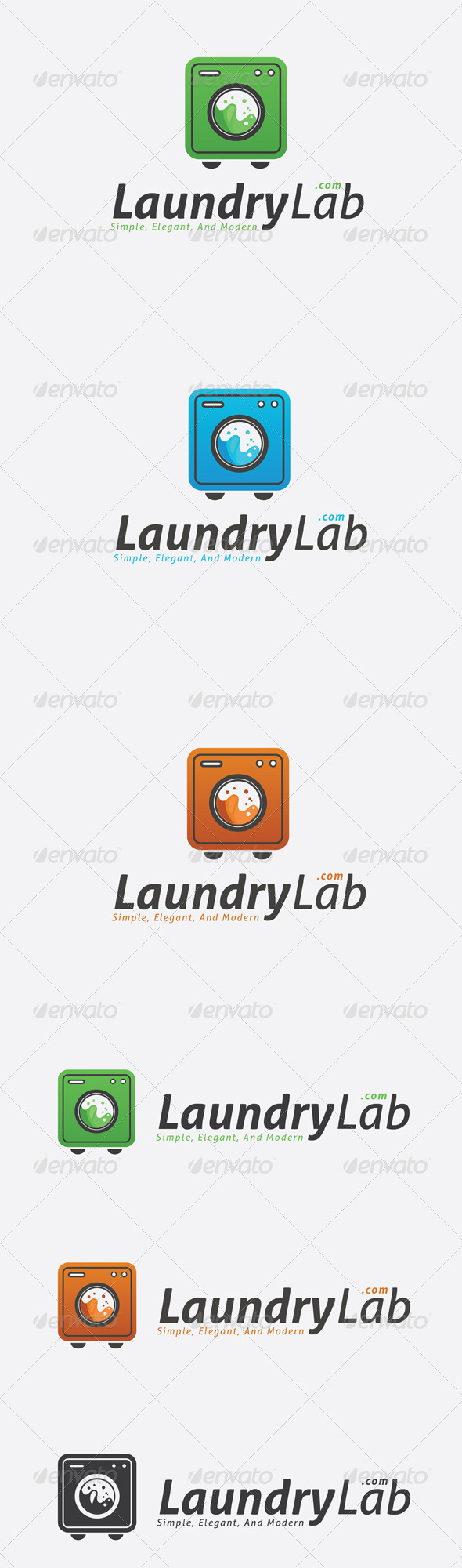 GraphicRiver Laundry Lab logo 6730970