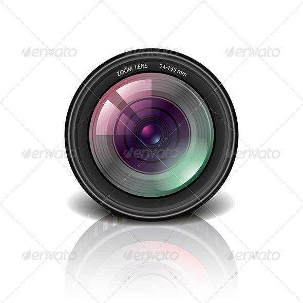 GraphicRiver Camera Lens Icon Vector Illustration 6731047