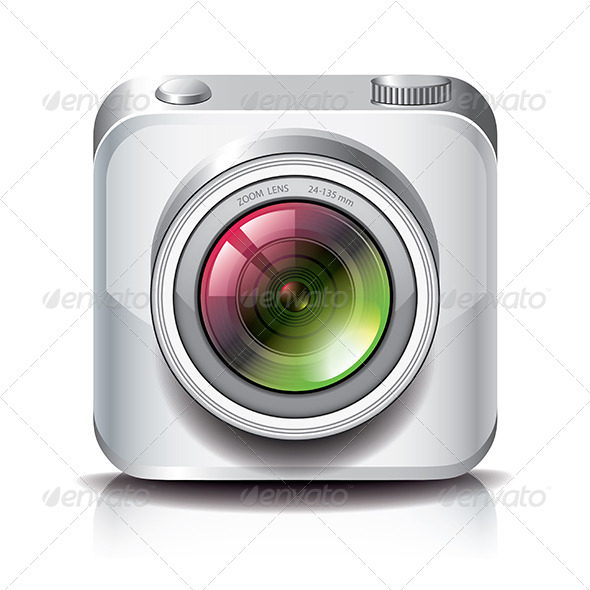 GraphicRiver White Photo Camera Icon for Apps 6731128