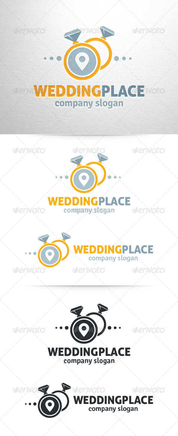 GraphicRiver Wedding Place Logo Template 6731234