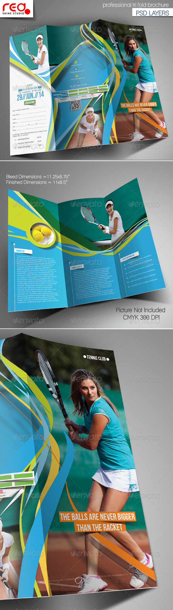 GraphicRiver Tennis Club Trifold Brochure Template 6731236
