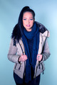Sexy girl in winter jacket in blue colors - PhotoDune Item for Sale