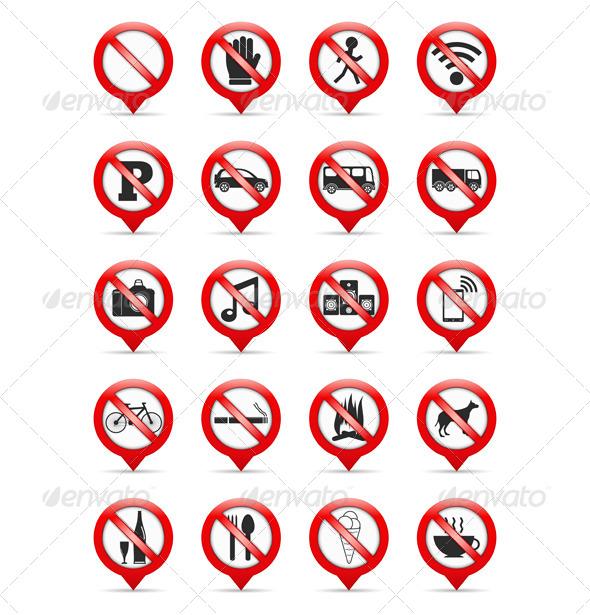 GraphicRiver Prohibition Signs 6731387
