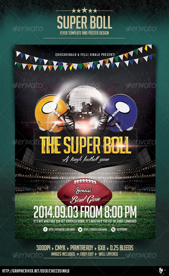 Super Boll Flyer Template