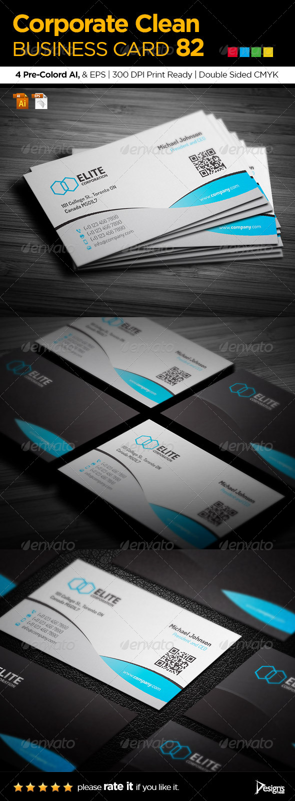 GraphicRiver Corporate Clean Business Card 82 6731908