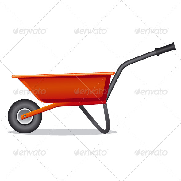 GraphicRiver Red Wheelbarrow 6732007