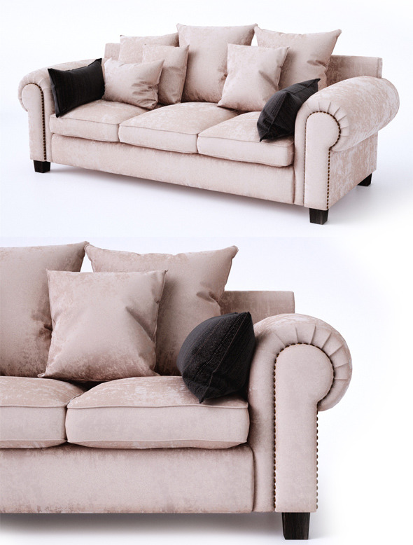 3DOcean Classic sofa with pillows 6685484