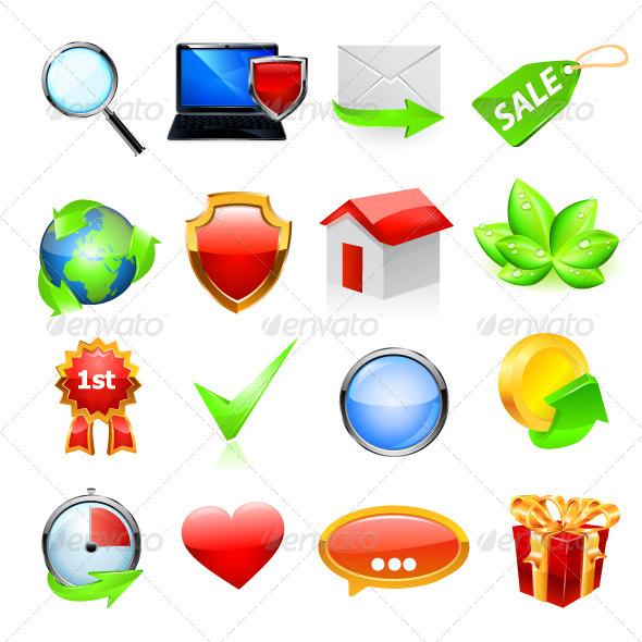 GraphicRiver Web Icon Set 6732166