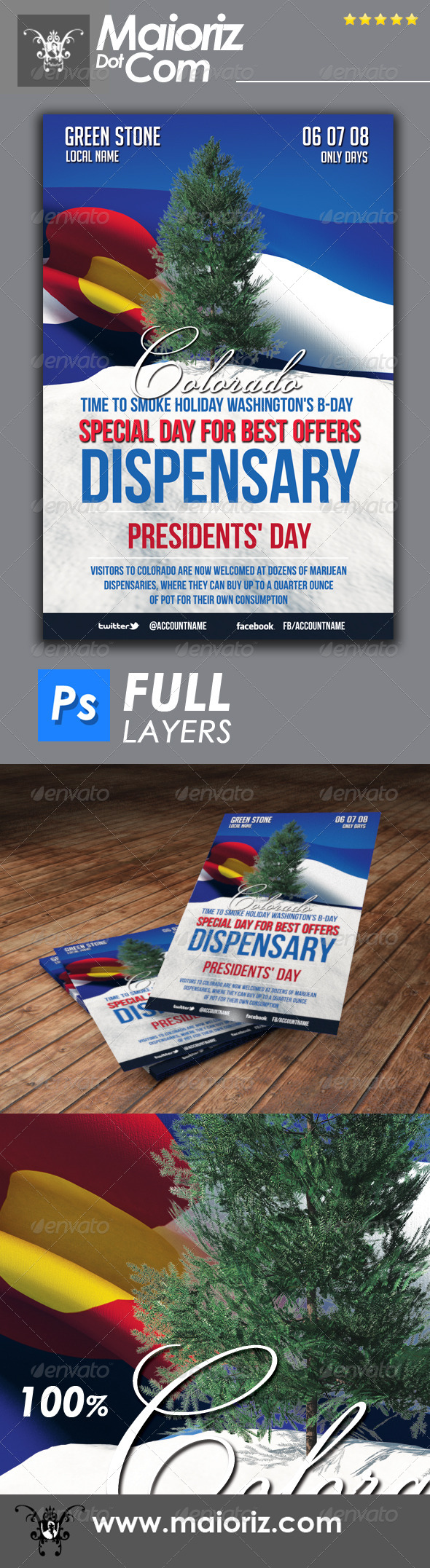 GraphicRiver Dispensary Promotion Flyer 6732313